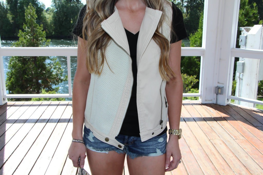 Sweetest Stitch Moto Vest