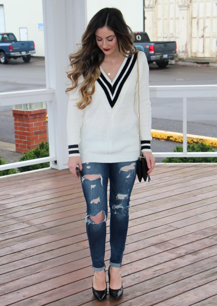 Varsity Sweater by Shein