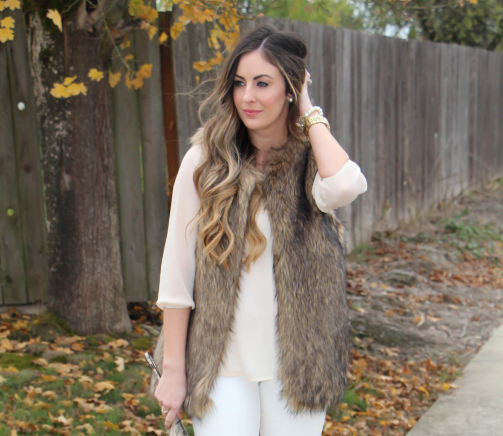 Neutrals and Holiday Look