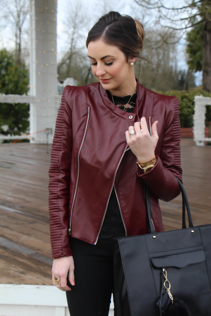 Burgundy Jacket by Shein